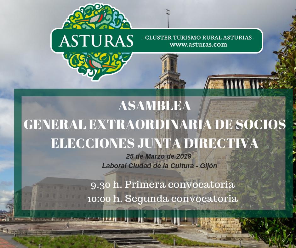 Convocatoria: Asamblea general extraordinaria y elecciones junta directiva