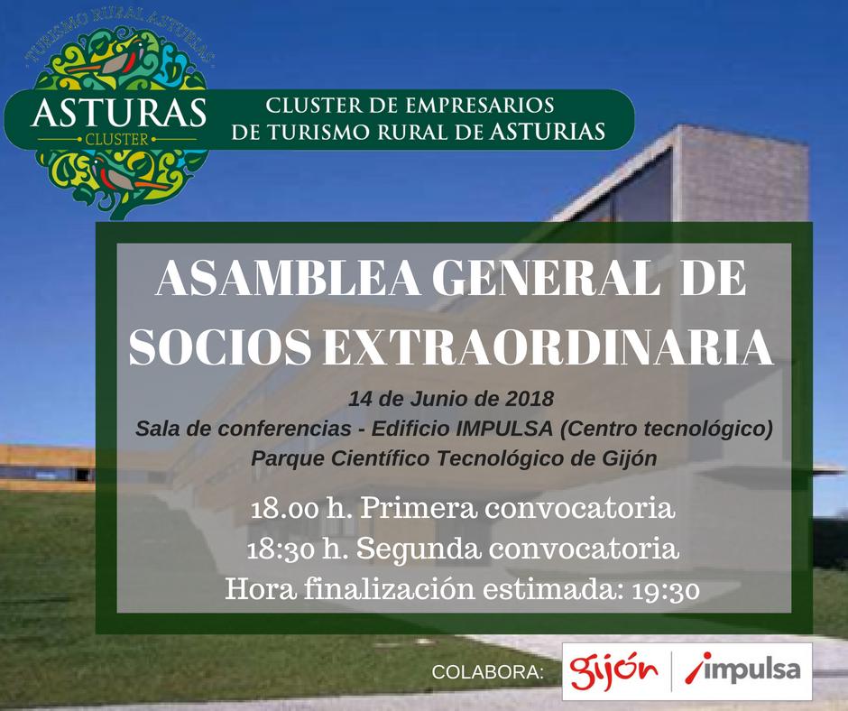 Convocatoria Asamblea General Extraordinaria de Socios – 14 Junio 2018