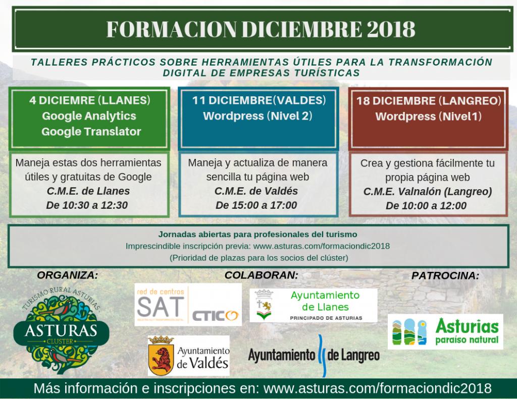 Formación para profesionales del turismo (Diciembre 2018)