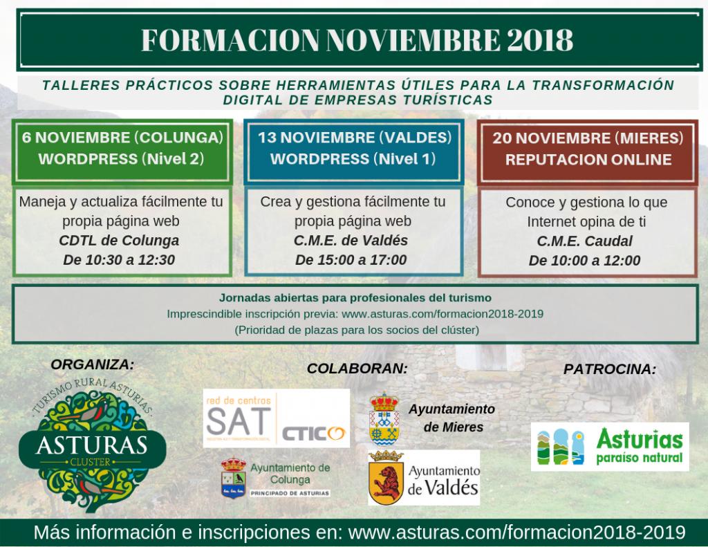 Formación para profesionales del turismo 2018-2019 – Formulario de inscripción: