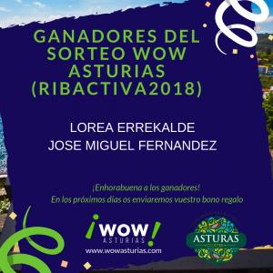 Ganadores del sorteo de Ribactiva - Escapadas Sorpresa por Asturias (Wow Asturias)