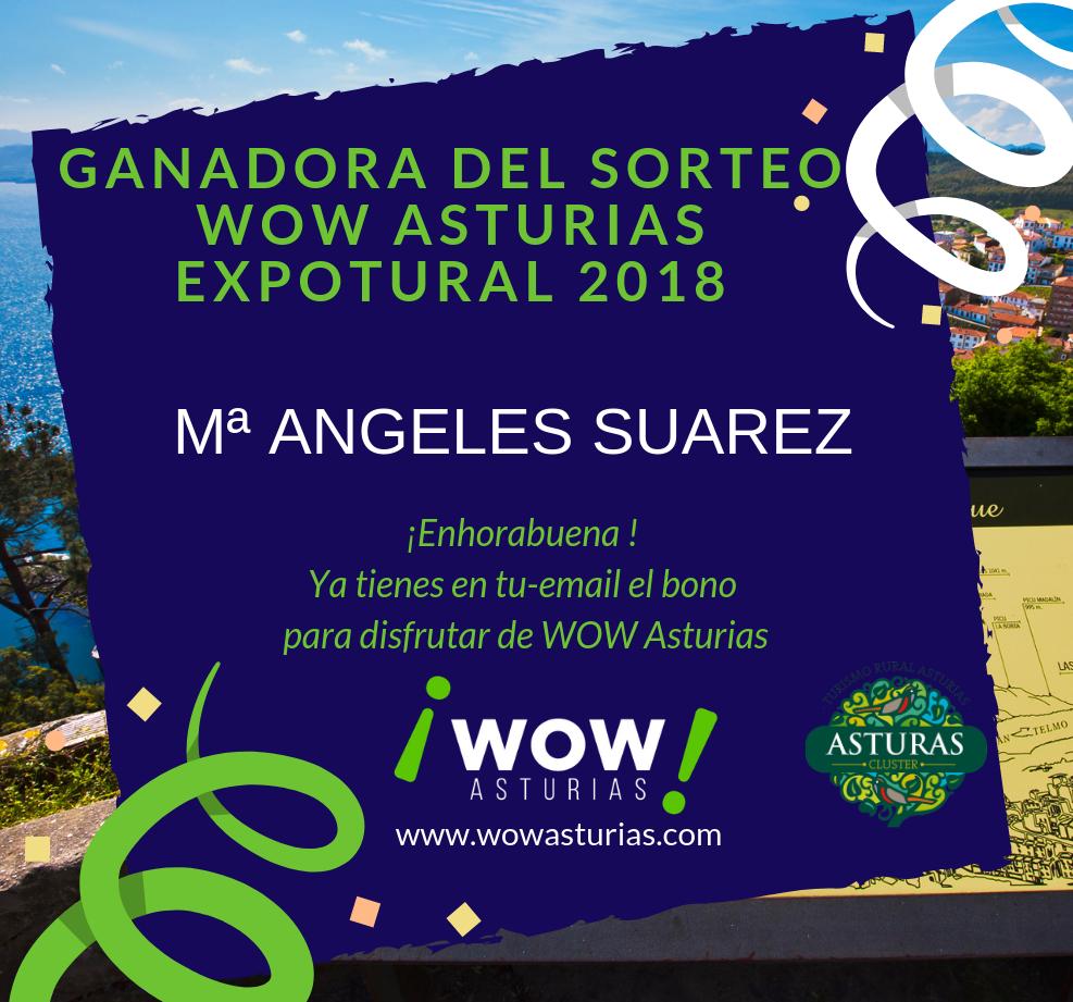 Ganadora del sorteo Wow Asturias – Expotural 2018