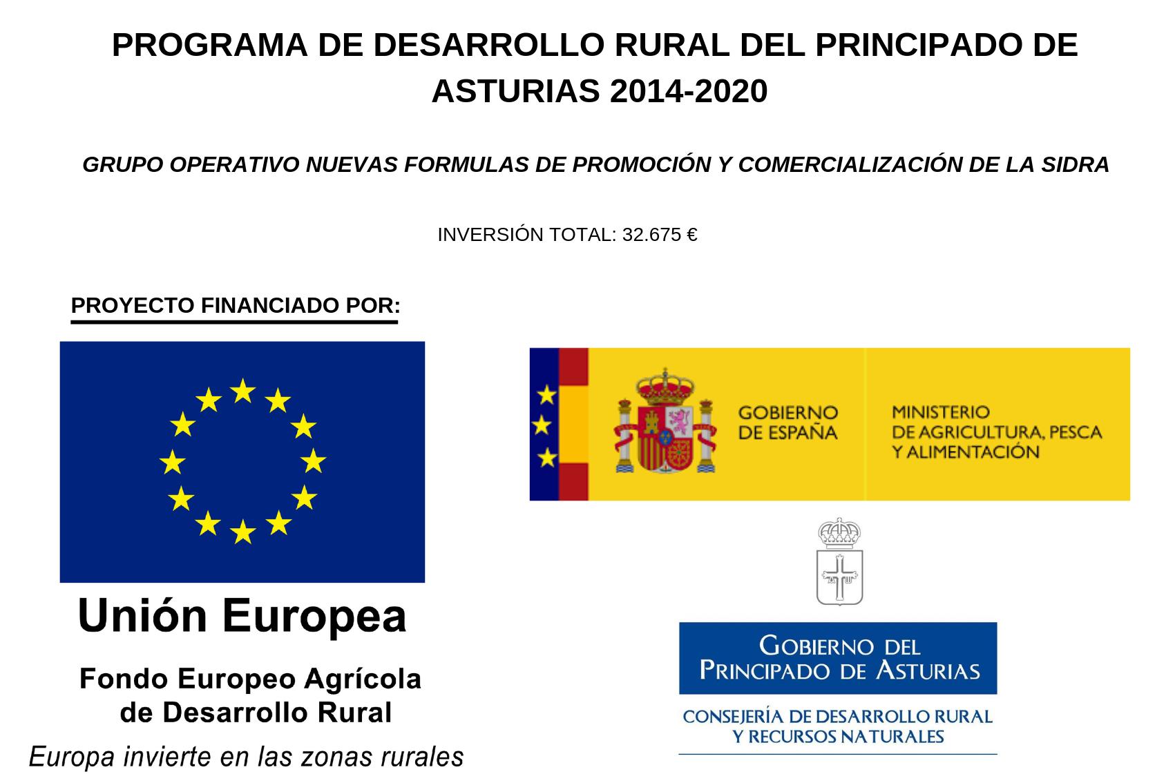 Cartel informativo Grupo Operativo Nuevas formas de comercializacion de la sidra