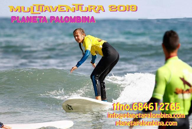 Portada folleto oferta campamentos de verano en Asturias - Planeta Palombina (llanes)