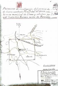 Documentación original de la explotación de la mina bola
