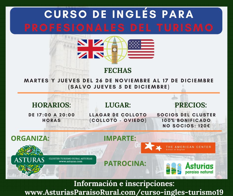 Curso de inglés para profesionales del turismo 2019