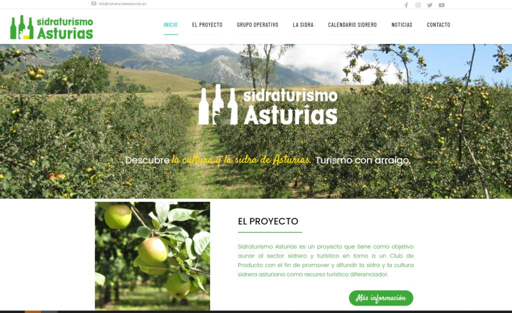Web del proyecto Sidraturismo Asturias